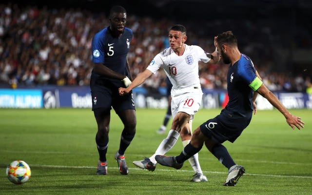 Phil Foden scored a fine solo goal to put England Under-21s ahead against France