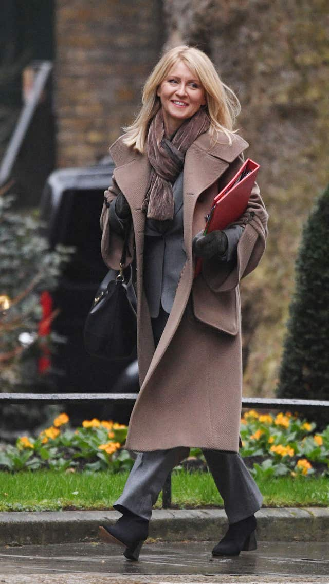 Work and Pensions Secretary Esther McVey arriving at 10 Downing Street, London, for a Cabinet meeting.