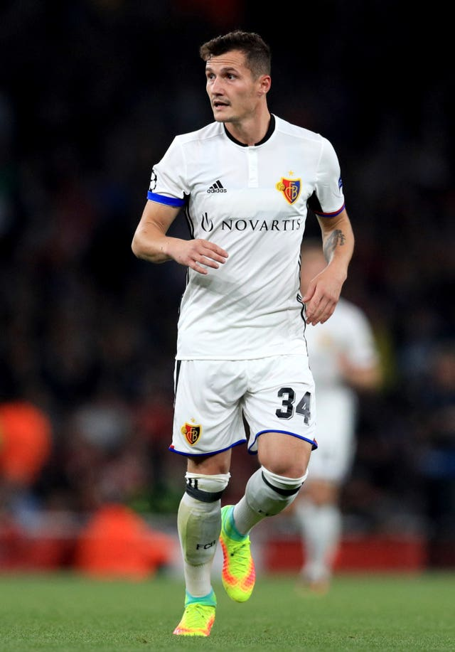 Taulant Xhaka in action for Basel