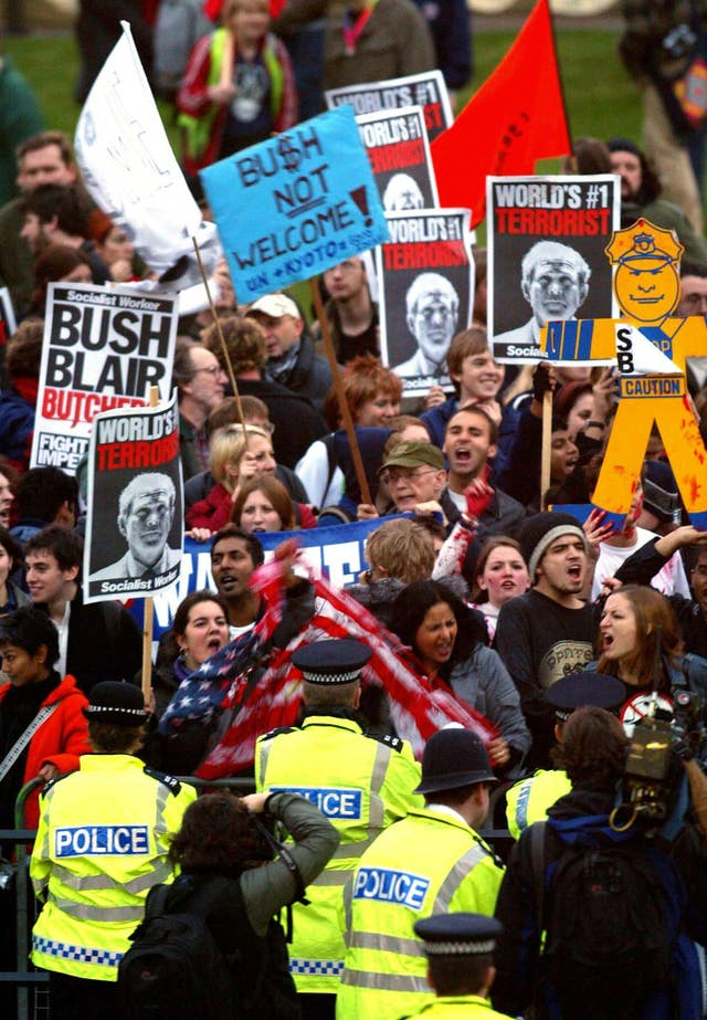 Anti Bush protests