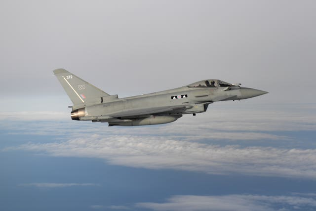 An RAF Eurofighter Typhoon