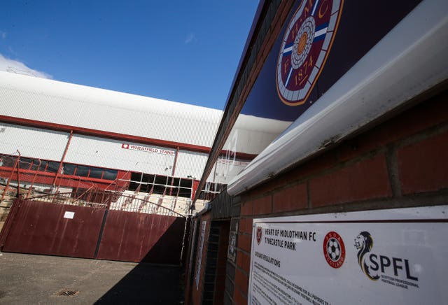 Hearts are at odds with the SPFL