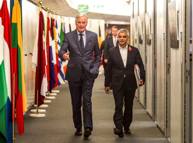 Sadiq Khan and Michel Barnier