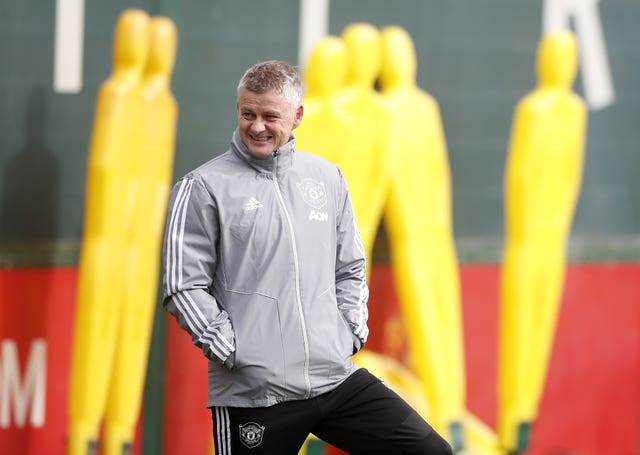 Manchester United manager Ole Gunnar Solskjaer is happy to be back in training
