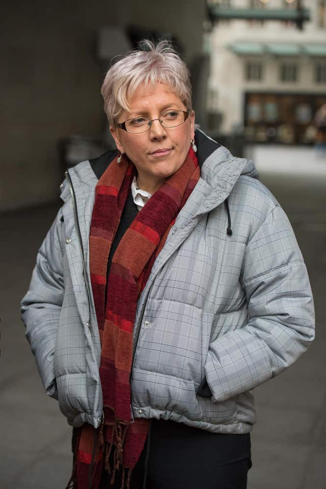 Carrie Gracie (Dominic Lipinski/PA)