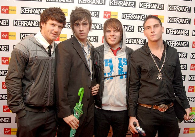 Enter Shikari at the 2007 Kerrang awards in London.