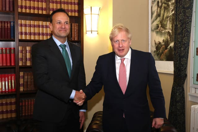 Irish premier Leo Varadkar and Prime Minister Boris Johnson