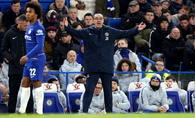 Maurizio Sarri is under increasing pressure as Chelsea boss