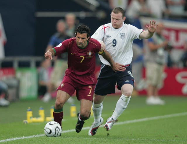 Luis Figo, left, enjoyed an illustrious career with club and country