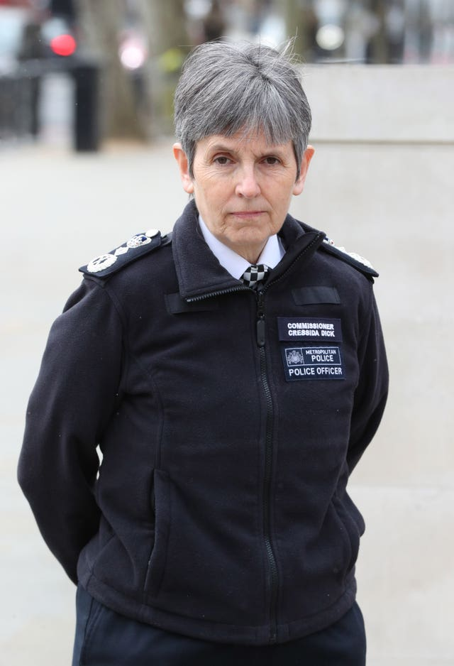 Metropolitan Police and Commissioner Dame Cressida Dick