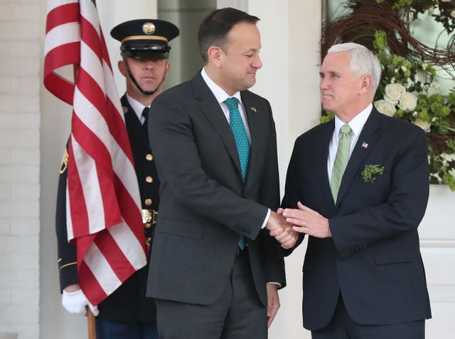 Leo Varadkar met with the vice president on a visit to America in March