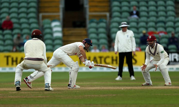 Alastair Cook kept Somerset at bay