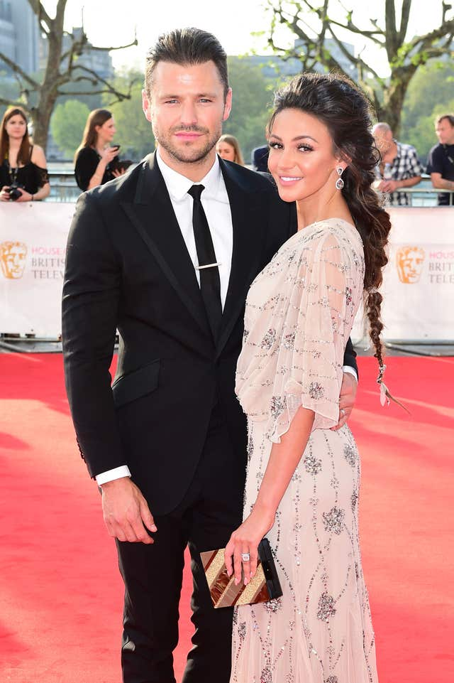 Michelle Keegan has slammed the negativity surrounding her long-distance marriage with Mark Wright (Ian West/PA)