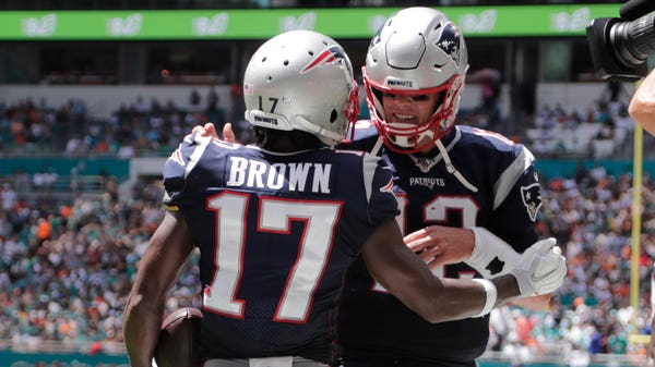 Touchdown for Antonio Brown on New England Patriots debut