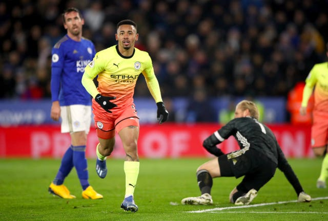 Substitute Gabriel Jesus claimed the only goal as Manchester City beat Leicester