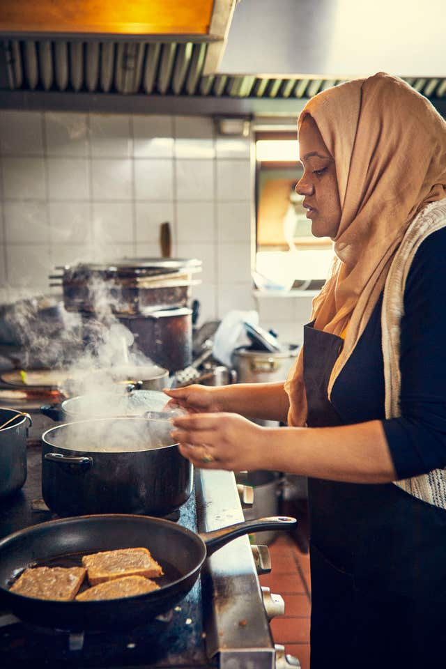 Munira Mahmud cooking