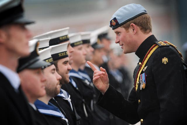 Prince Harry, in his role as Commodore-In-Chief, Small Ships and Diving (Stefan Rousseau/PA)