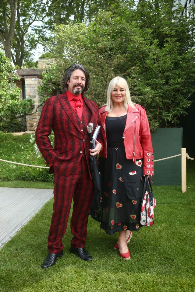 Laurence Llewelyn-Bowen and his wife Jackie visited the show