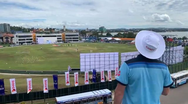 England had one fan watching their Test match in Sri Lanka after Rob Lewis waited in Sri Lanka for nearly a year to watch the team play
