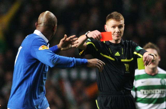 El Hadji Diouf was one of three Rangers players to get sent off in the cup tie