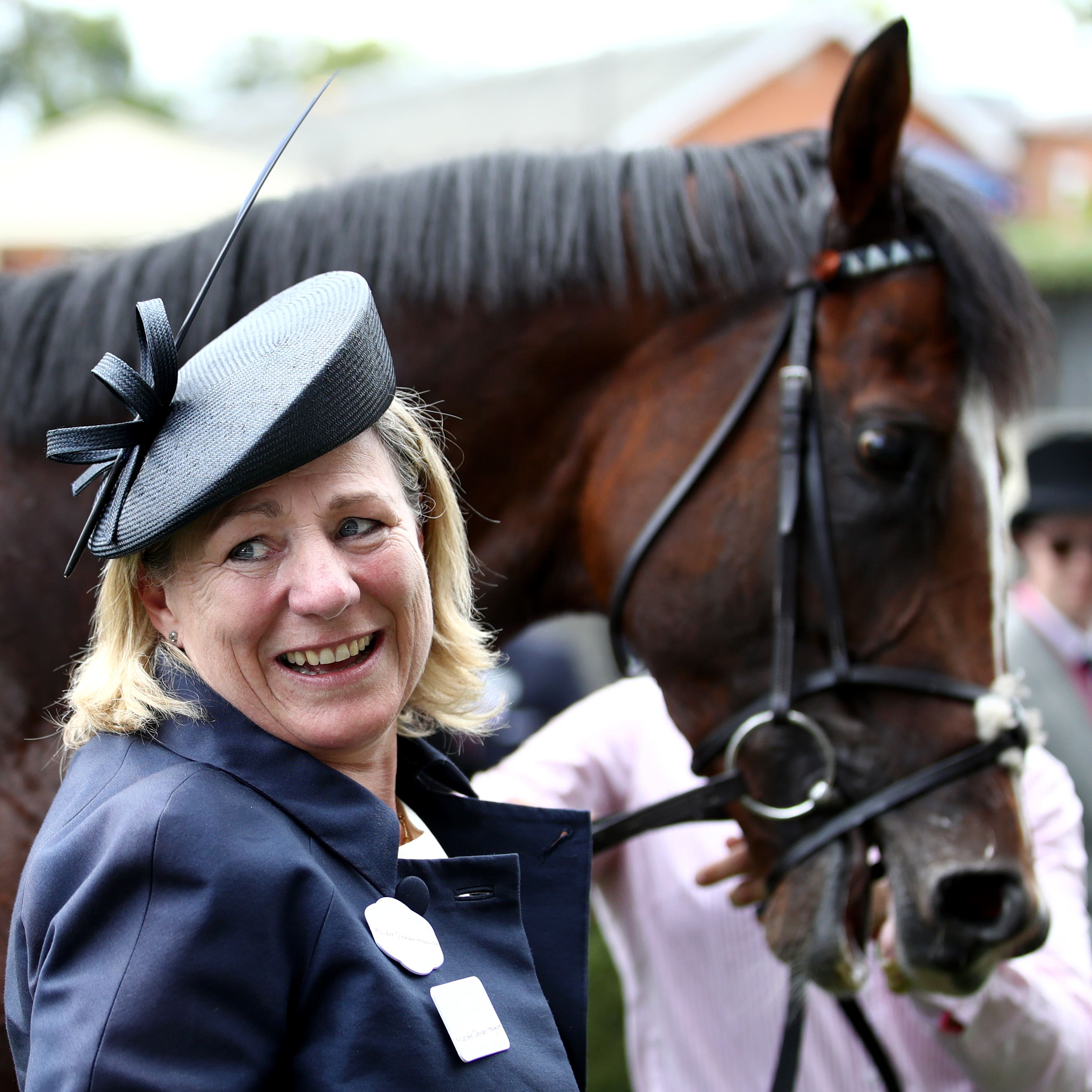 Trainer Eve Johnson Houghton with her Queen Anne Stakes winner, Accidental Agent