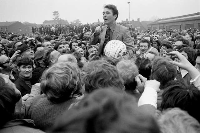 Clough was hugely popular with fans
