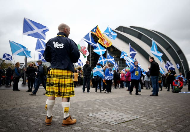 Scotland voted against independence in 2014 (Jane Barlow/PA)