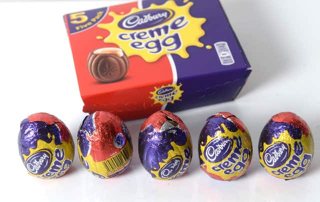 Five Cadbury Creme Eggs