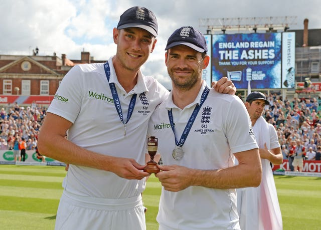 Stuart Broad, left, and James Anderson have been at the forefront for England in recent home Ashes series (Philip Brown/Pool)
