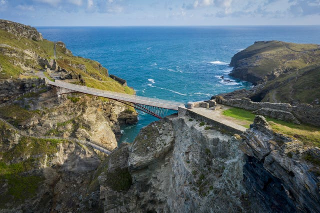 The new walkway spans a dramatic part of the Cornish coastline. David Levene