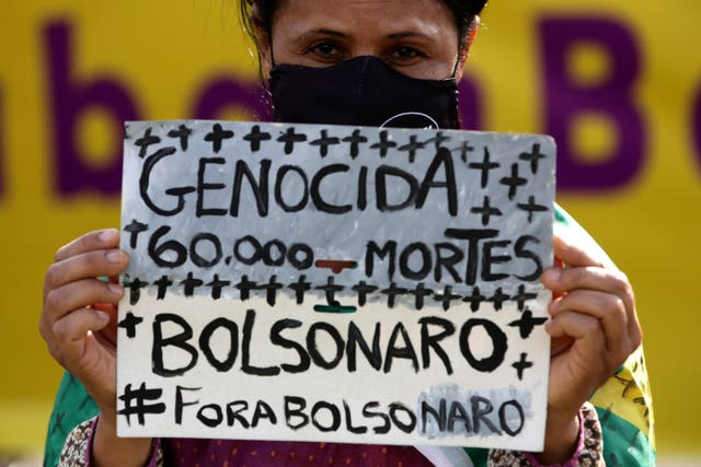 People have protested over Mr Bolsonaro's handling of the pandemic