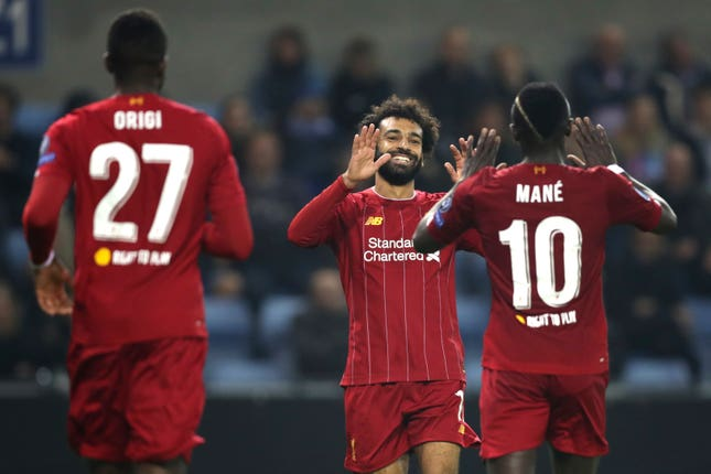 Mohamed Salah returned from an ankle injury to rubber-stamp the victory