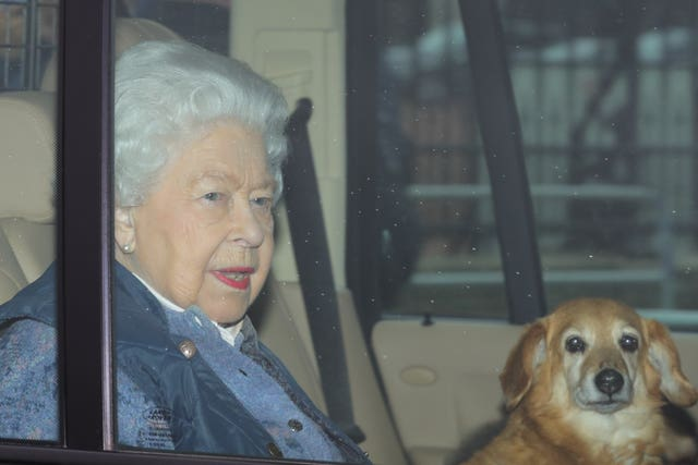 Queen leaves London