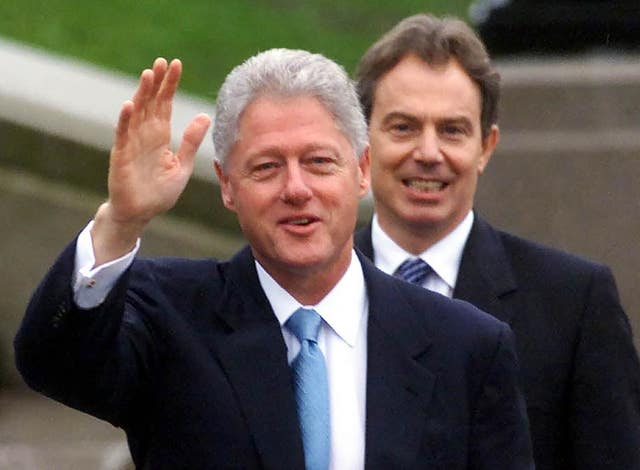 Bill clinton to visit northern ireland to mark good friday bill clinton with then uk prime minister tony blair on the steps of the parliament platinumwayz