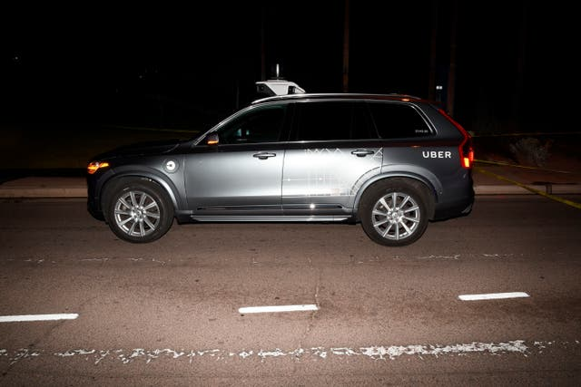 The Uber SUV involved in the accident in Tempe, Arizona