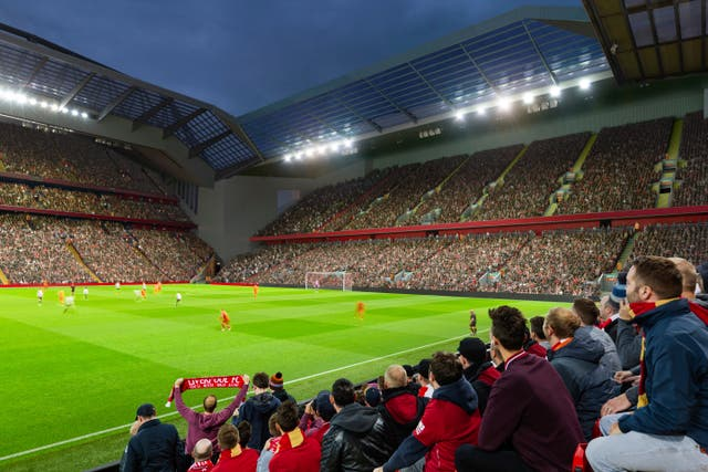 The club are to submit a delayed planning application for the redevelopment of the Anfield Road stand