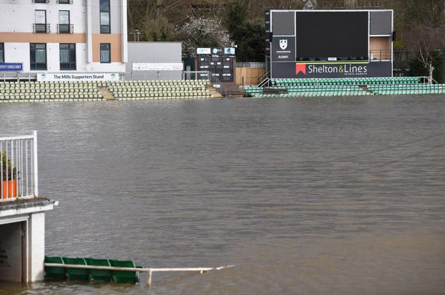 Worcester's New Road ground flooded
