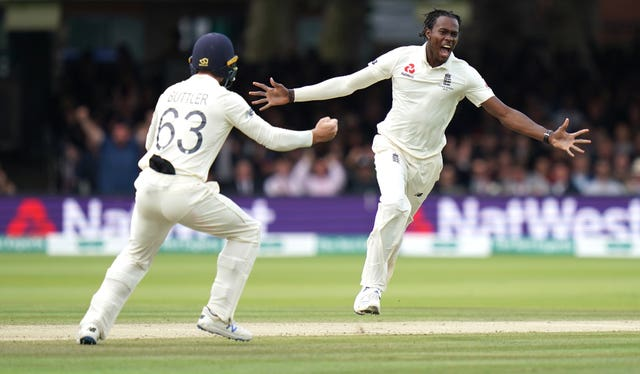 Jofra Archer, right, continued to impress on his Test debut