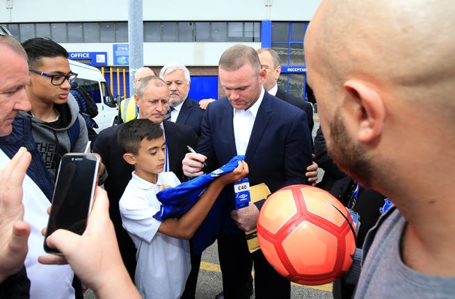 Wayne Rooney Press Conference – Goodison Park