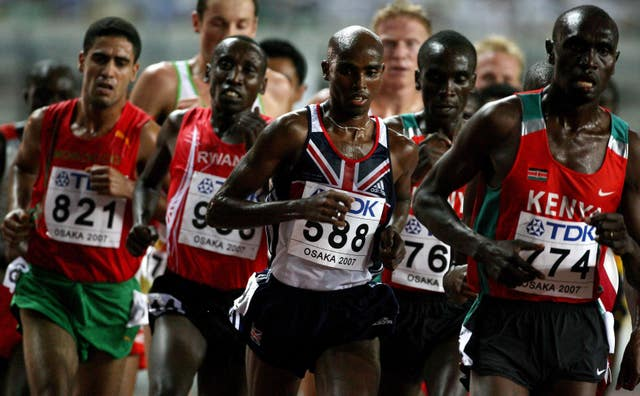 Mo Farah in action at the 2007 World Championships in Osaka