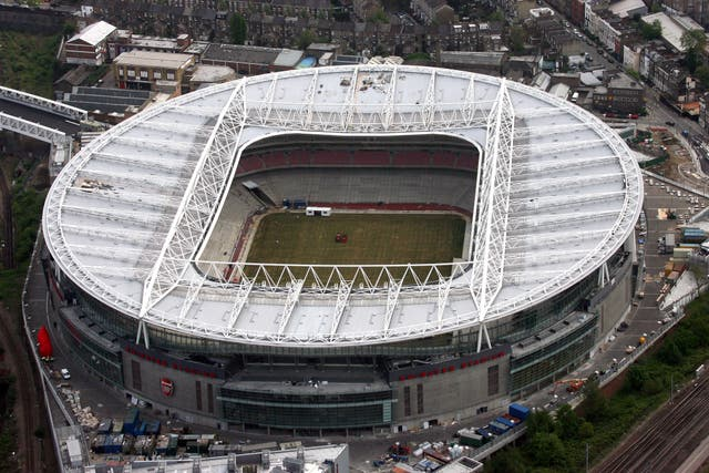 An aerial view of the Emirates Stadium