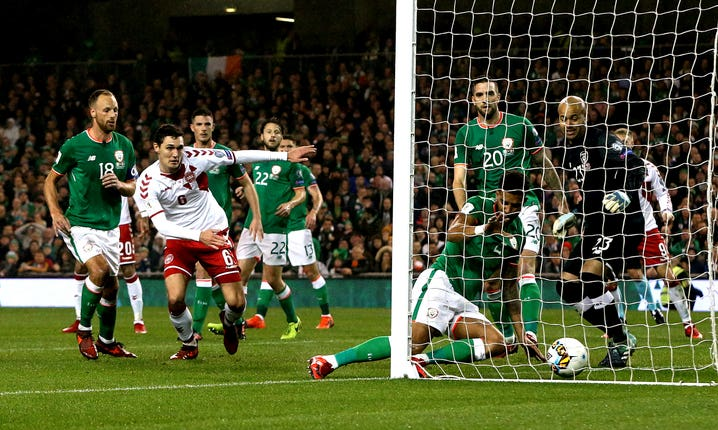 Action from Ireland v Denmark