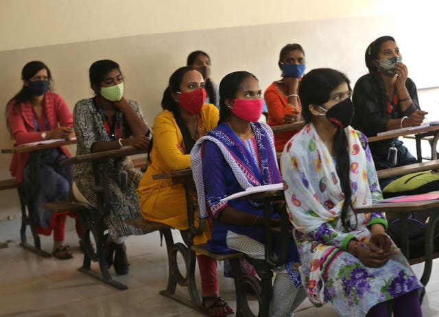 Students in face masks
