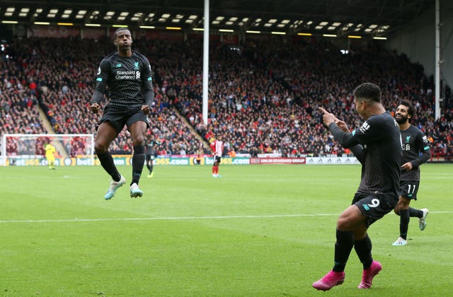 Georginio Wijnaldum netted Liverpool's winner at Sheffield United