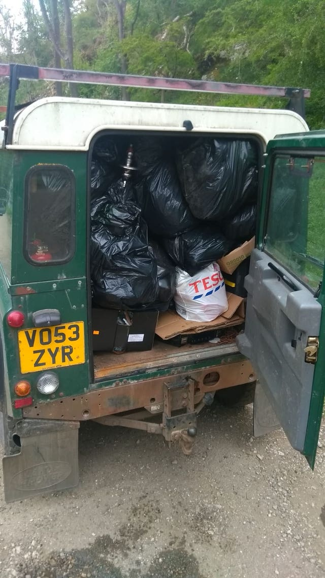 Charity condemns campers for dumping rubbish