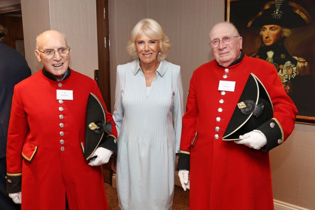 Camilla visits Victory Services Club