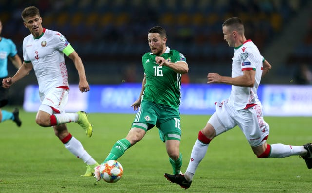 Northern Ireland were under pressure by the end of the first half as Belarus forced their way into the game