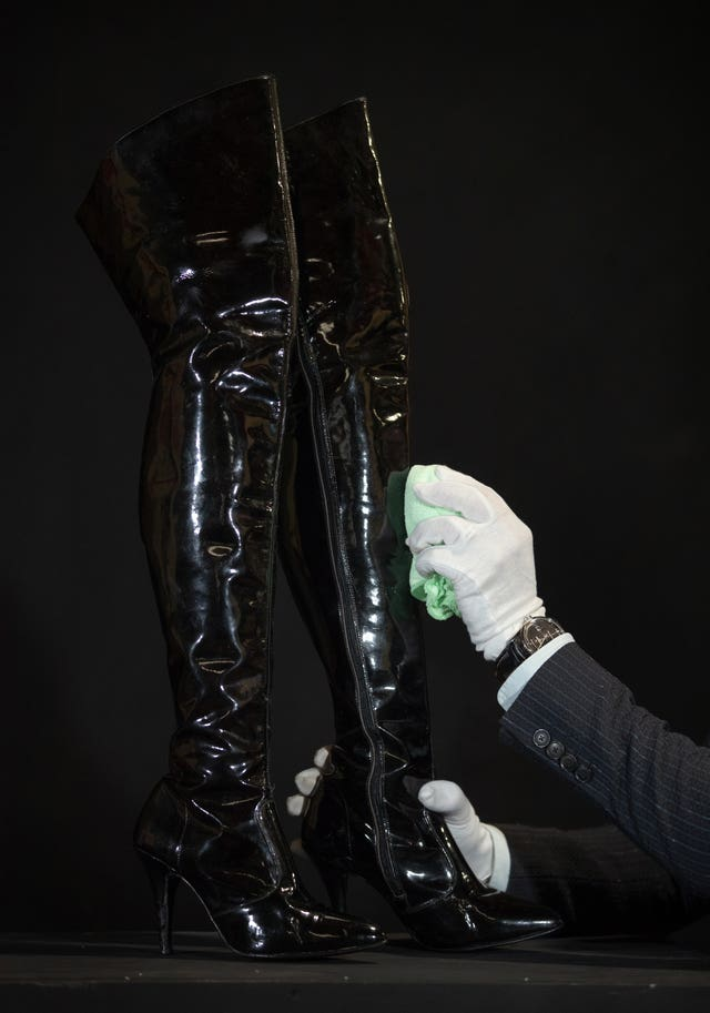 Vivian Ward's (Julia Roberts) boots from the 1990 film Pretty Woman