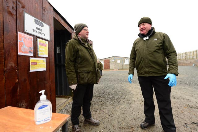 Strict protocol was in place while Irish racing continued behind closed doors