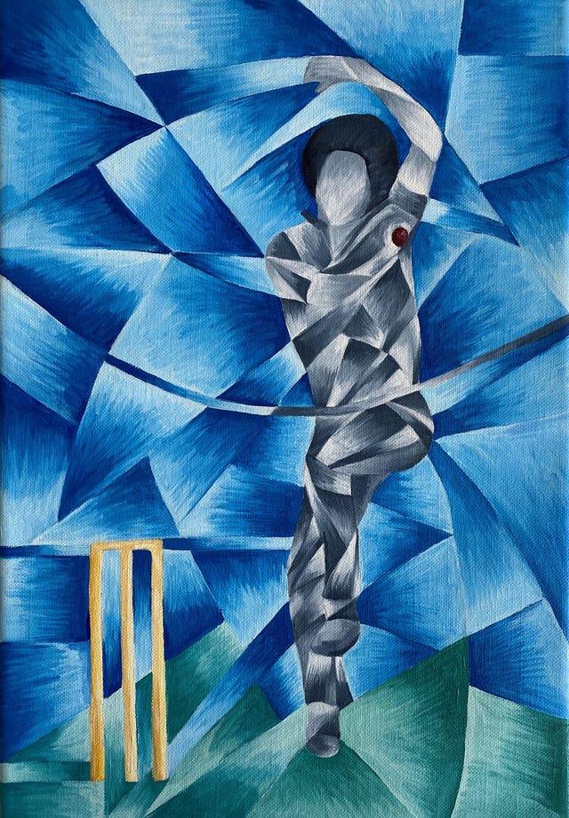 Artwork created by Bob Willis' widow Lauren Clark